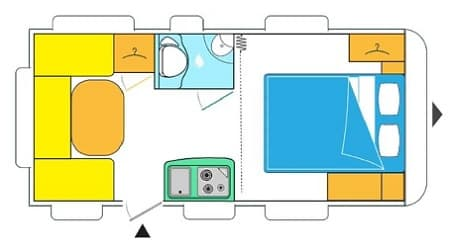 Plattegrond caravelair antares style 470 2019